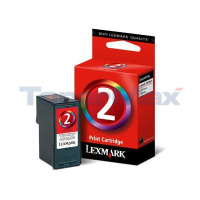 LEXMARK Z1380 NO 2 PRINT CARTRIDGE TRI-COLOR